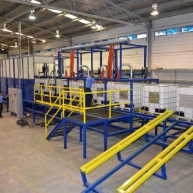 Proceso optimizado y economico de readecuacion de totes (IBC's) de plástico en planta de Recoenvases